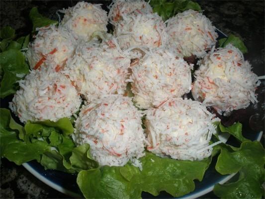 закуска крабовых палочек рецепт