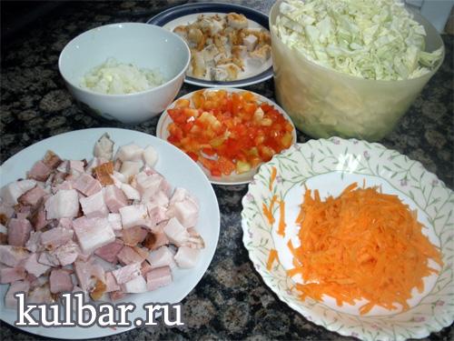 солянка из капусты с мясом