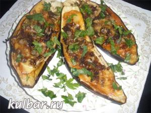 Farshirovannie baklajani s farshem кулинарный блог