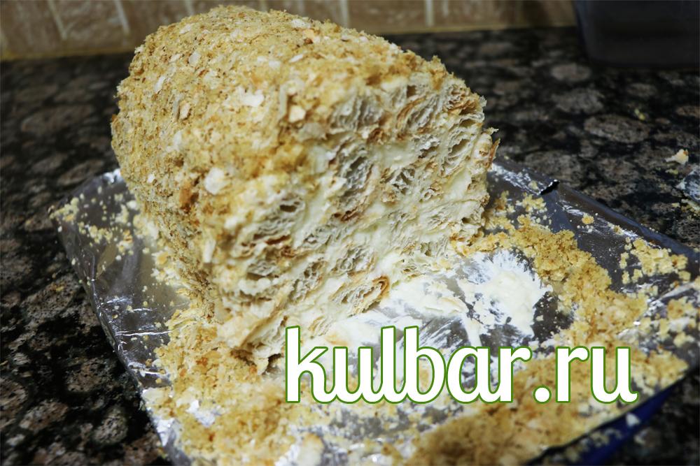 торт наполеон полено